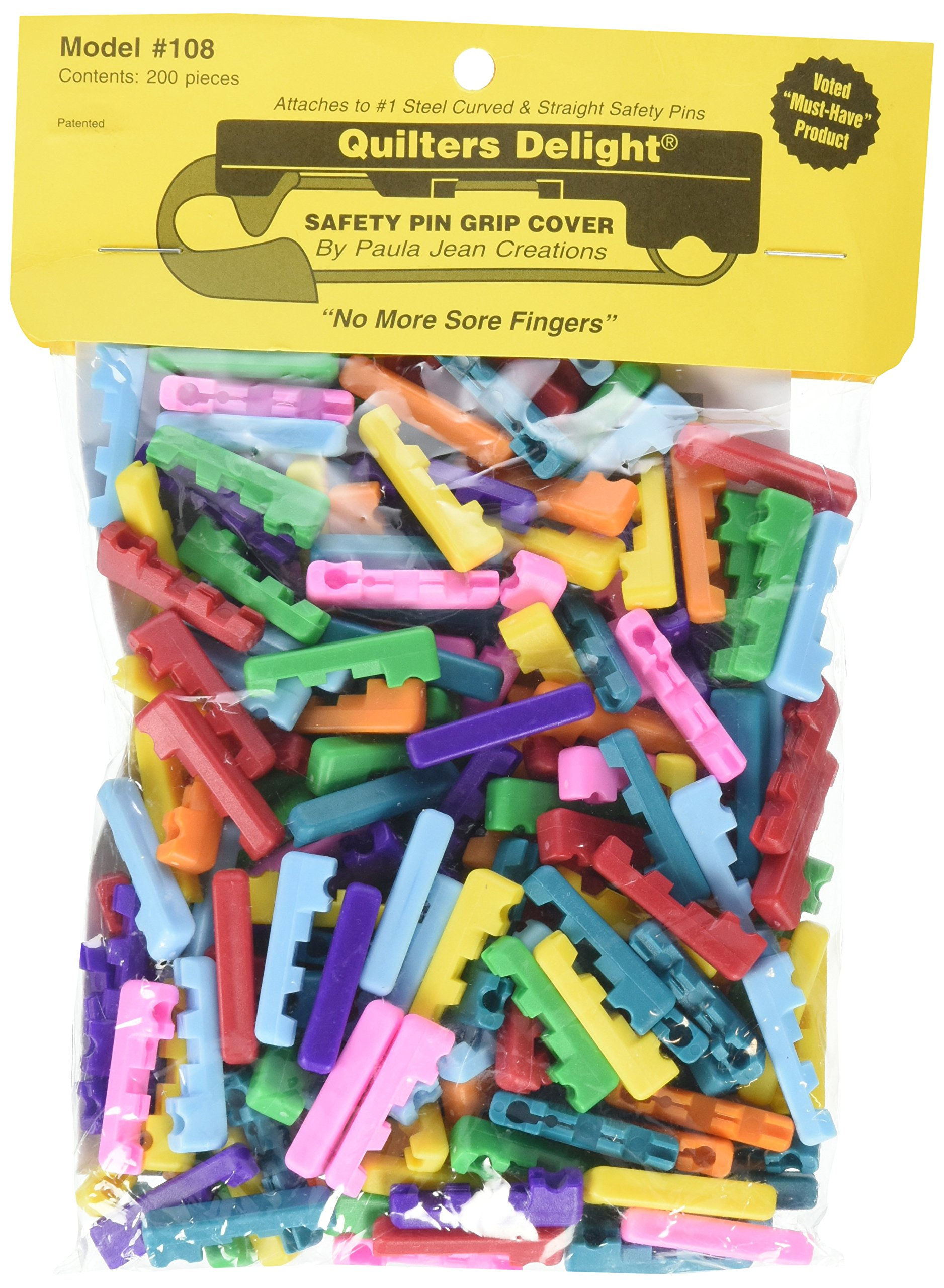 Paula Jean Creations Quilters Delight Safety Pin Covers 200 ct, Multicolor