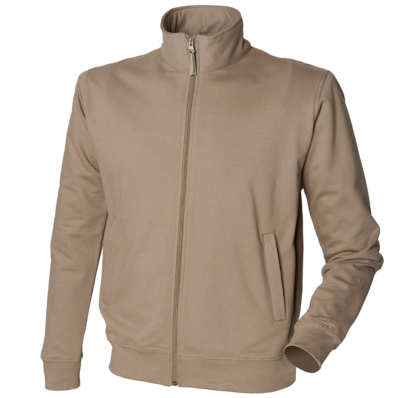 Skinni Fit Mens Essential Zip Through Sweatshirt Jacket Olive XL