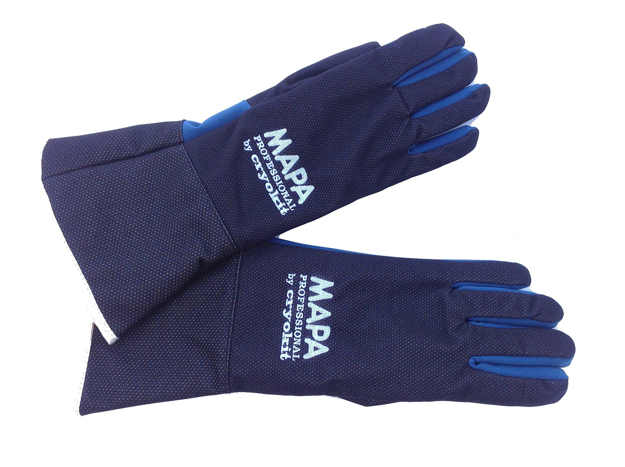 MAPA Professional CRYKIT400410 CRYOKIT400 Cryogenic Glove, (16''-Ma), Size 10, PR 1, Blue