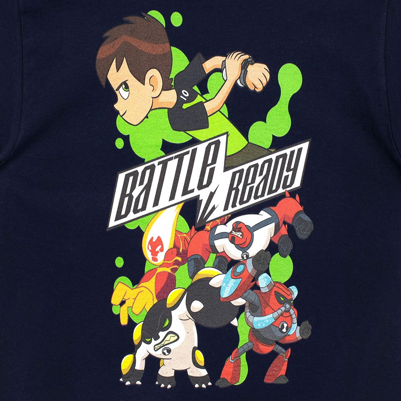 Ben 10 Camiseta de Manga Corta para ni/ños