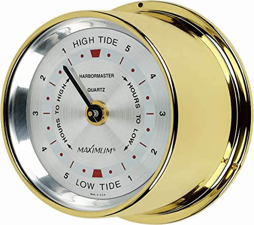 Maximum Inc. Harbormaster Atlantic Coast Tide Clock Brass Case