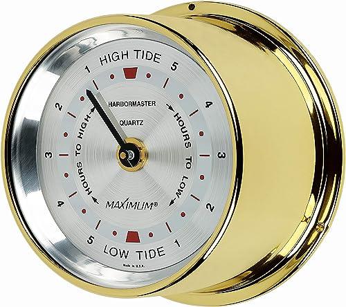 Maximum Inc. Harbormaster Atlantic Coast Tide Clock Brass Case