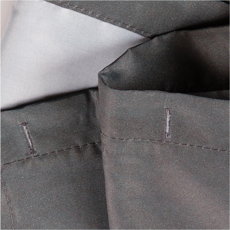 waschbarer Duschvorhang aus weichem Stoff Polyester grau//blau mit Blumen-Motiv 183,0 cm x 183,0 cm gro/ßer Badewannenvorhang iDesign Thistle Duschvorhang
