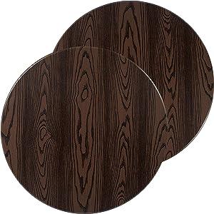 "Flash Furniture 2 Pk. 30"" Round Rustic Wood Laminate Table Top"