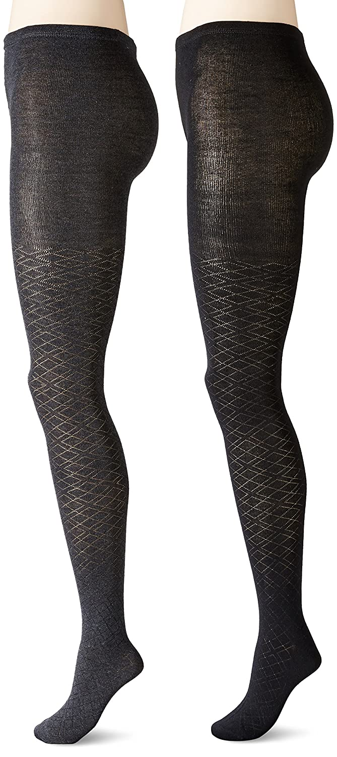 cc4267aa483eb Anne Klein Women's Pointelle Argyle Patterned Knit Tights (Pack of 2) at  Amazon Women's Clothing store:
