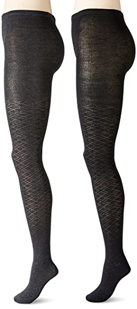 fd805c2a4693e Image Unavailable. Image not available for. Colour: Anne Klein Women's  Pointelle Argyle Patterned Knit Tights ...
