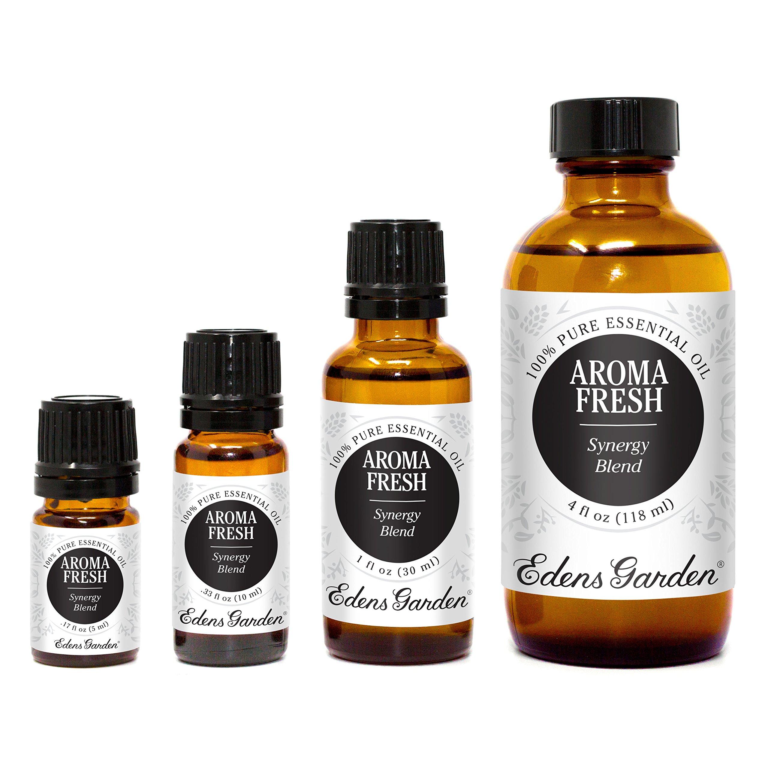 Edens Garden Aroma Fresh 30 ml 100% Pure Therapeutic Grade GC/MS Tested (Lemon, Lime, Siberian Fir Needle, Austrian Fir Needle, Pine, Citronella, Tea Tree, Cilantro)