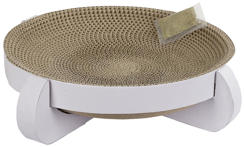Kerbl Platinum Corbeille Greffoir avec Herbe à Chat pour Chat Blanc 35 x 35 x 10 cm 81555
