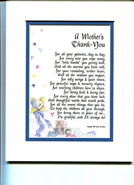 A Gift Present Poem For Daycare Provider Nursery School Teacher Or Pre