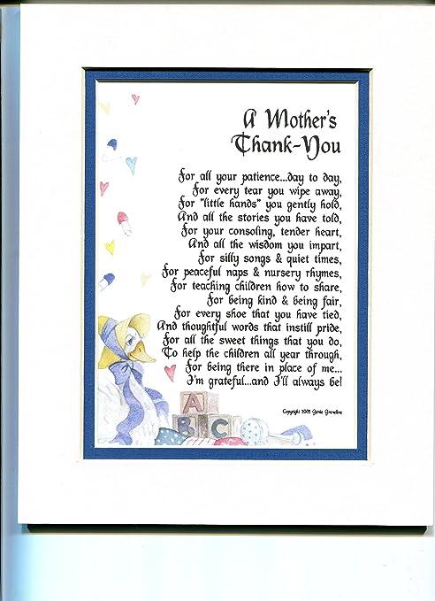A Gift Present Poem for A Daycare Provider, Nursery School Teacher Or  Pre-School Teacher  #134,