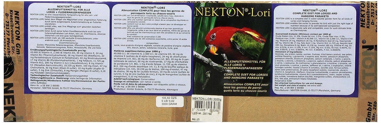 L Nekton Lori Size L Pack of 1 x 3 Kg