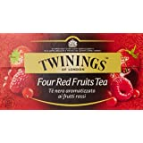Twinings - Te' Nero Aromatizzato ai Frutti Rossi, 25 Bustine - 50 g