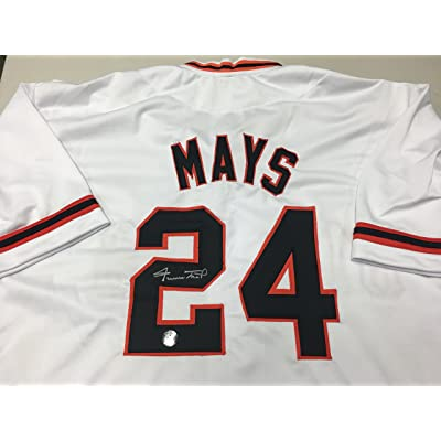 4cab47d696b Willie Mays Autographed Signed San Francisco Giants Custom Jersey SEY HEY  Mays Player Hologram