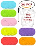Amazon Price History for:Clothing Rack Size Dividers 56 Pack Multi COLORED Round Plastic Circle Hanger Garment Sorting Storage Divider Rod Tubes BONUS Piece Dry Erase Black Marker & 189 Blank White Labels Organize Store Home