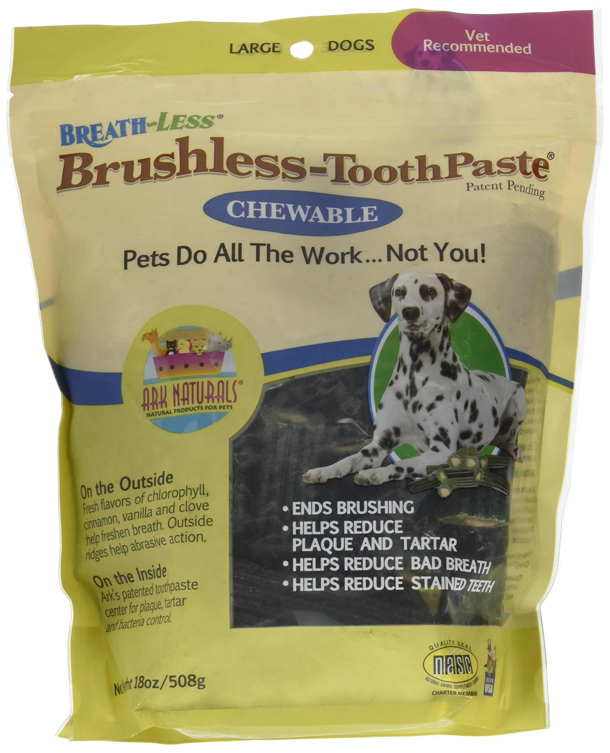ARK NATURALS Breath-Less Brushless-Toothpaste - Chewable - Large Dogs - 18 oz by ARK NATURALS