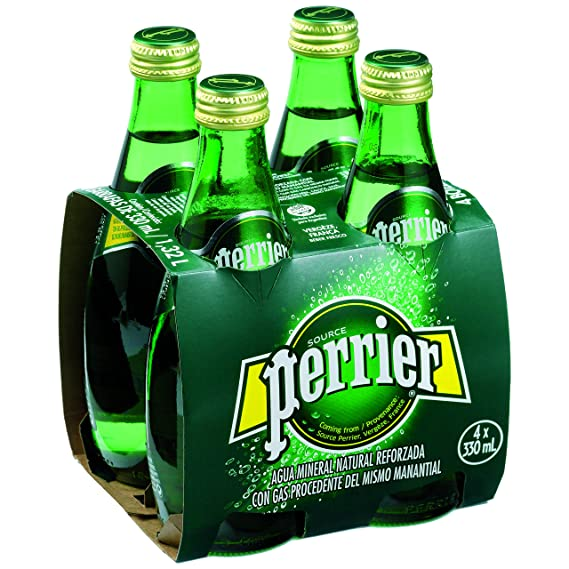Perrier Natures Basket Vidrio Agua Mineral Natural con Gas - Pack de 4 x 33 cl - Total: 1320 ml: Amazon.es: Amazon Pantry