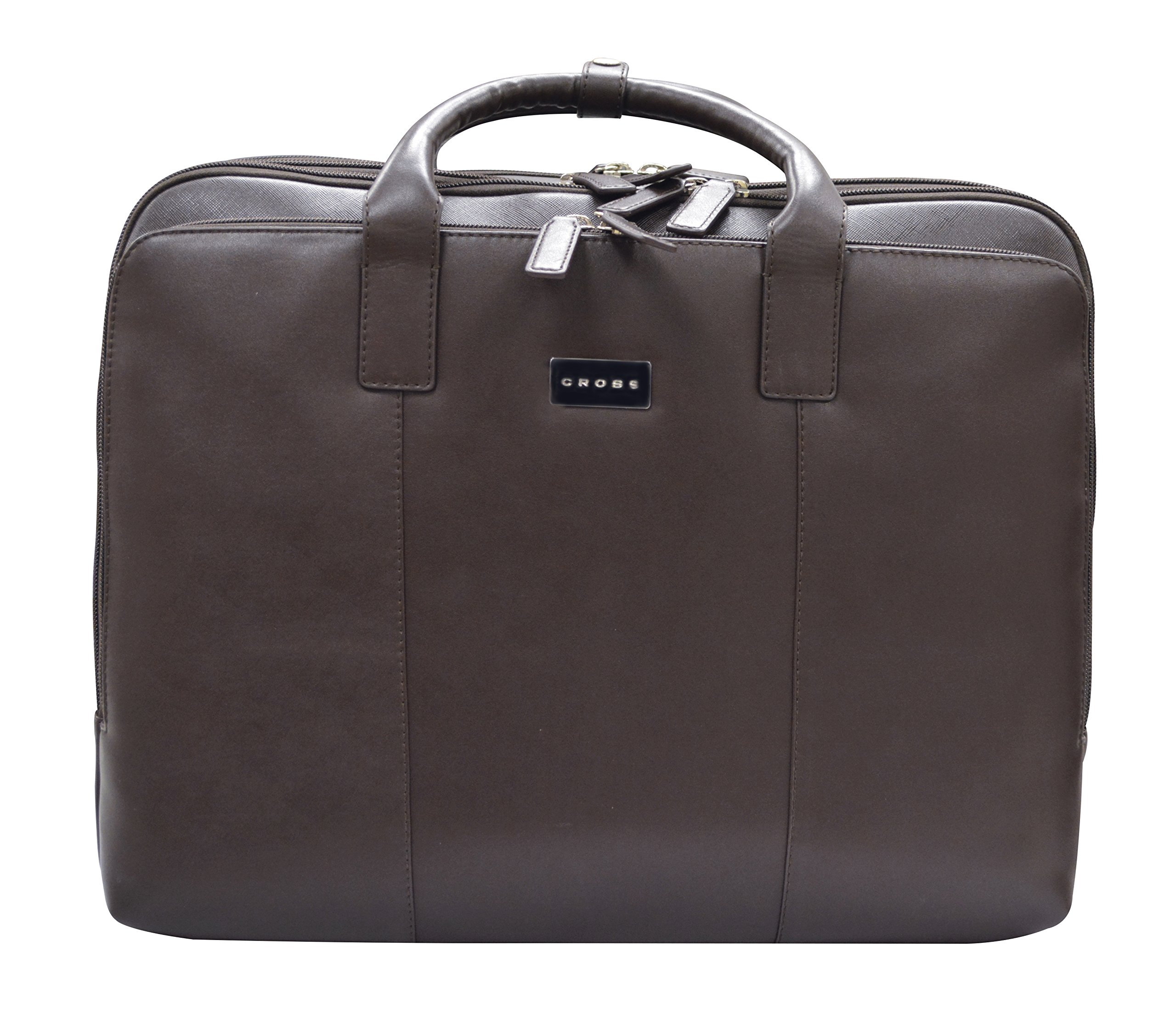 Cross Men's Artificial Leather Laptop / Office / Business / Weekender Briefcase - Oak Brown
