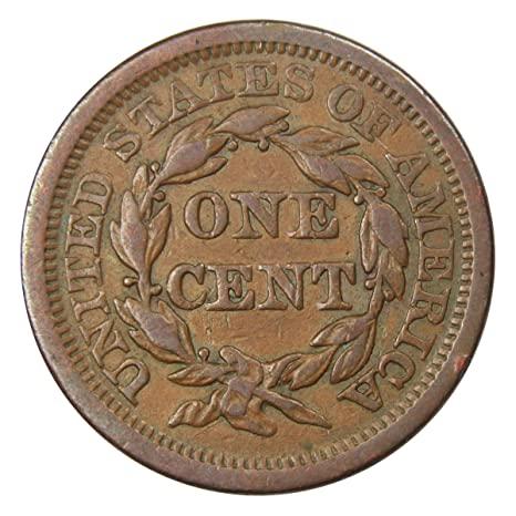 1854 Braided Hair Large Cent XF EF Extremely Fine Copper Penny 1c US Type Coin