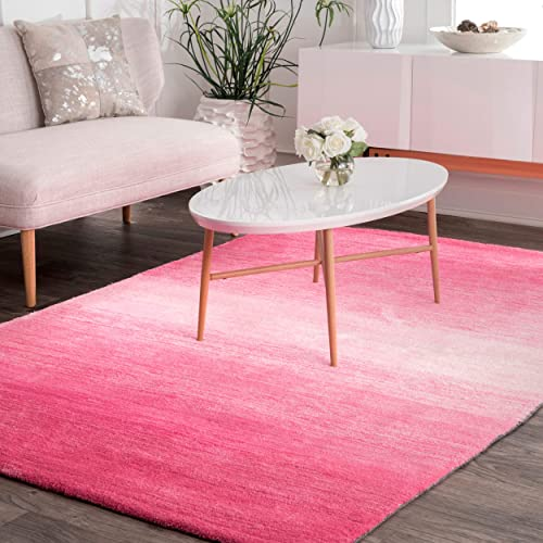 nuLOOM Bernetta Hand Tufted Ombre Area Rug, 8 6 x 11 6 , Pink
