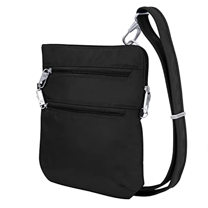 Amazon.com: Travelon Dbl - Bolso bandolera con cremallera ...