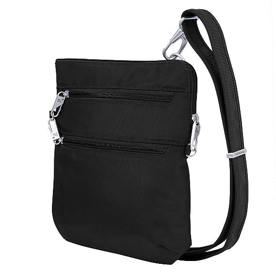 Travelon Anti-Theft Classic Slim Dbl Zip Crossbody Bag, Black best crossbody bag