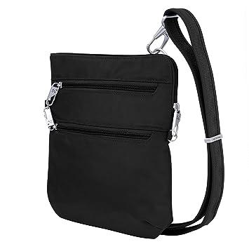 Amazon.com  Travelon Anti-Theft Classic Slim Dbl Zip Crossbody Bag ... 9ba22c80571b6