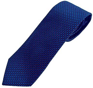Corbata azul oscuro con topos rojos, fabricada a mano. Pietro ...