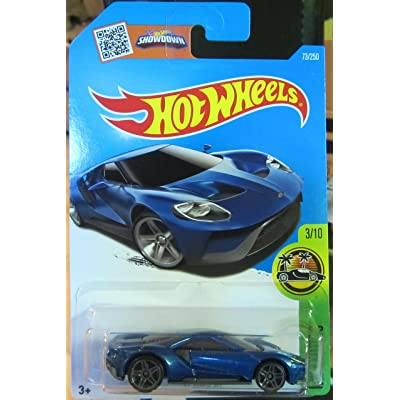 Hot Wheels 2016 HW Exotics '17 Ford GT 73/250, Blue: Toys & Games