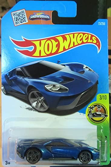 Amazon Com Hot Wheels  Hw Exotics  Ford Gt   Blue Toys Games