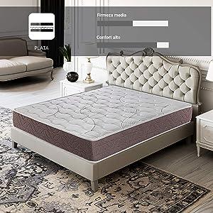 ROYAL SLEEP Colchón viscoelástico 150x190 firmeza Media, Alta Gama, Confort y adaptabilidad Alta,