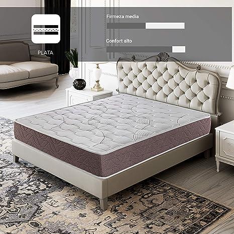 ROYAL SLEEP Colchón viscoelástico 180x200 firmeza Media, Alta Gama, Confort y adaptabilidad Alta, Altura 22cm - Colchones Dormant Plus