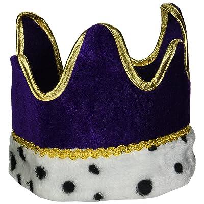 Plush Royal Crown (purple) Party Accessory (1 count) (1/Pkg): Kitchen & Dining