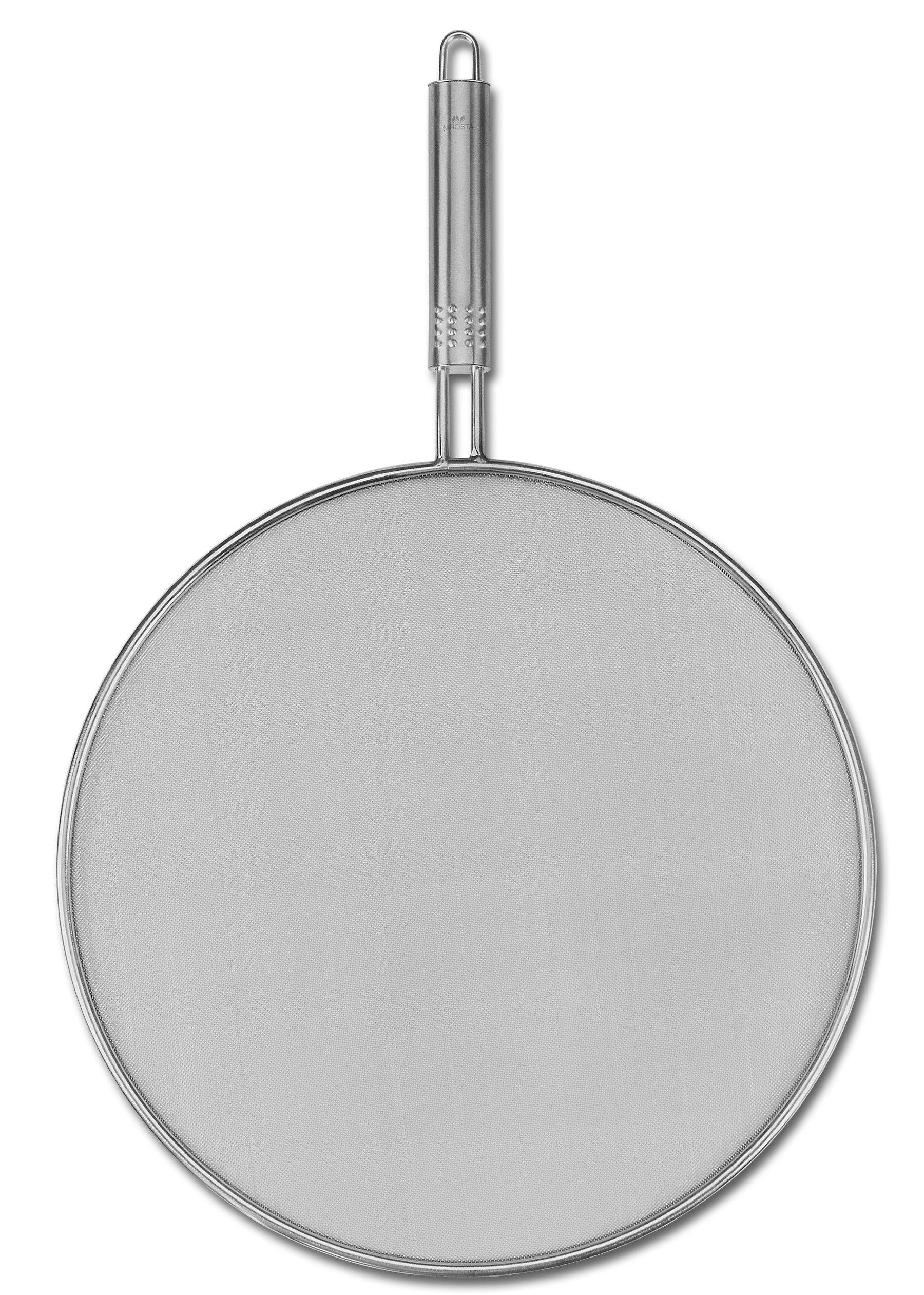 Fackelmann 40478 16.9'' Stainless Steel Splatter Screen, Silver