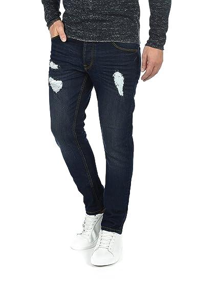 7b8c66b68c50 Solid MOY Jean Pantalon Denim pour Homme Extensible Coupe Slim, Taille W30