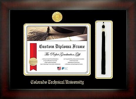 Amazon.com - Colorado Technical University 8½ x 11 Mahogany Finish ...
