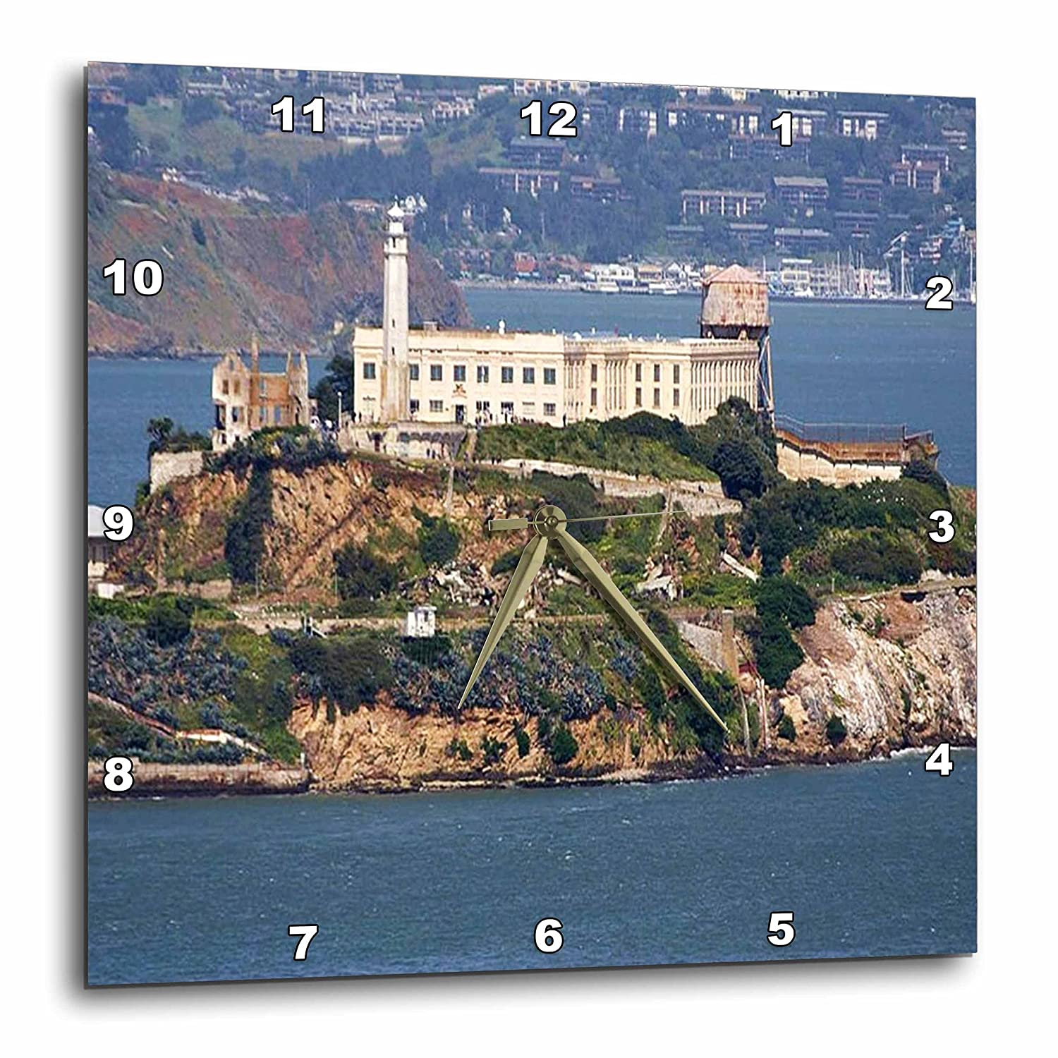 10 by 10-Inch 3dRose dpp/_47835/_1 View of Alcatraz Wall Clock