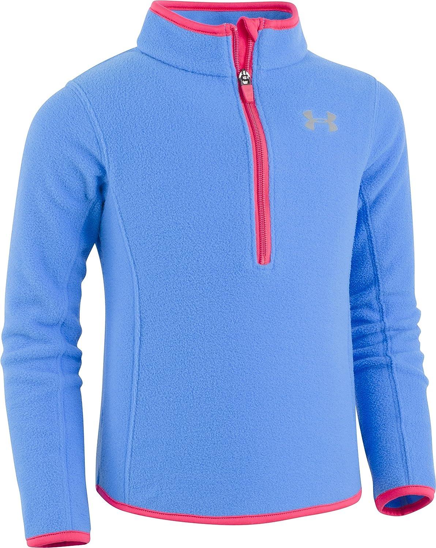Under Armour Girls Solid 1//4 Zip Fleece Track Sweater