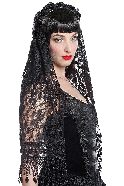 Sinister Schleier Black Wedding H018 Black