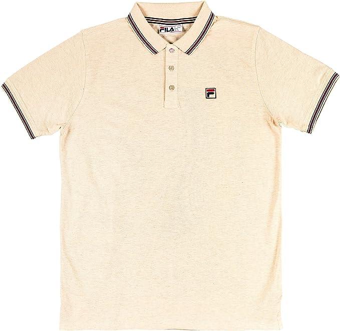 Fila Vintage Homme Polo à logo Matcho 4, Noir Noir Achat
