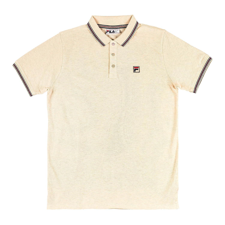 Fila Vintage Hombre Polo Matcho 4 Logo, Beige, Small: Amazon.es ...