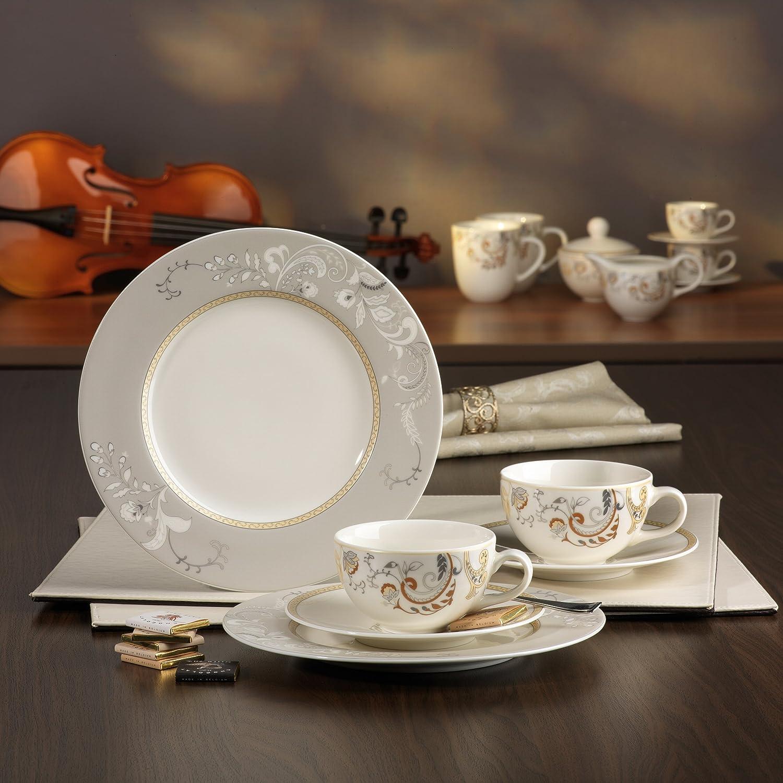 CreaTable 16663 Geschirrset Kaffeeservice 18 teilig Serie Palacio