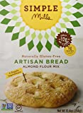 Simple Mills Almond Flour Mix, Artisan Bread, Naturally Gluten Free, 10.4 oz, 3 count