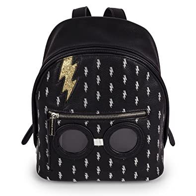 d358940ce8a1 Amazon.com  Danielle Nicole Harry Potter Bolt Black and Gold Backpack Bag   Shoes