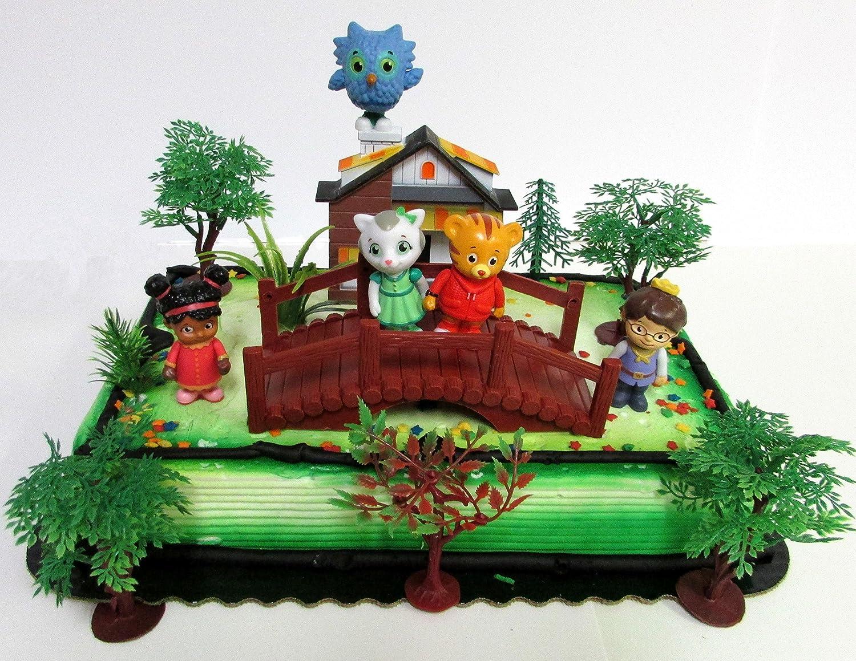 Super Amazon Com Daniel Tiger Birthday Cake Topper Set Featuring Daniel Funny Birthday Cards Online Elaedamsfinfo
