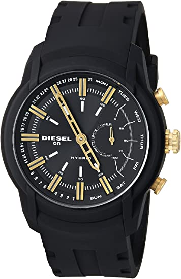 Diesel On Mens Armbar Silicone Hybrid Smartwatch - Activity Tracker Compatible with Android and iOS Phones
