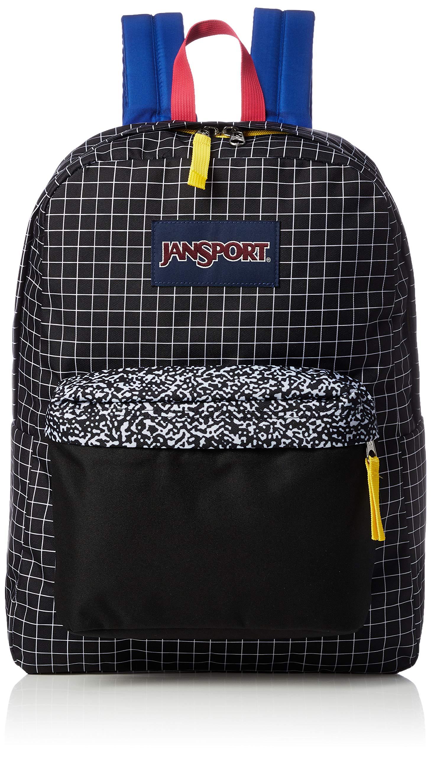 JanSport Unisex SuperBreak Black Grid One Size