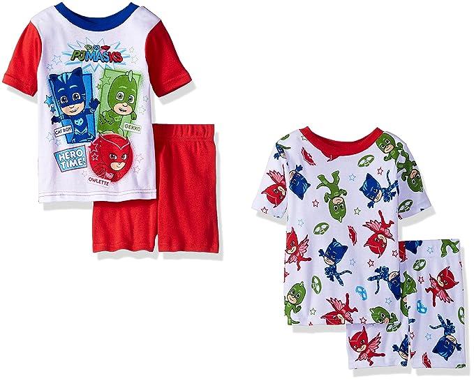 Pj Masks Pijama dos piezas - para niño blanco Hero Time Red/White