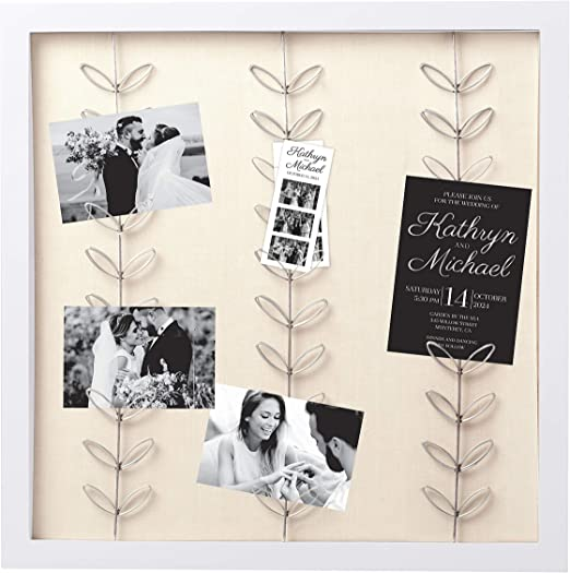 Pearhead Shiplap Wedding to Have and to Hold Collage Frame