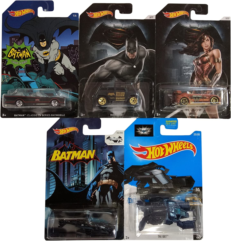 Hot Wheels Pack Regalo Original 5 Vehículos aleatorios de Batman ...