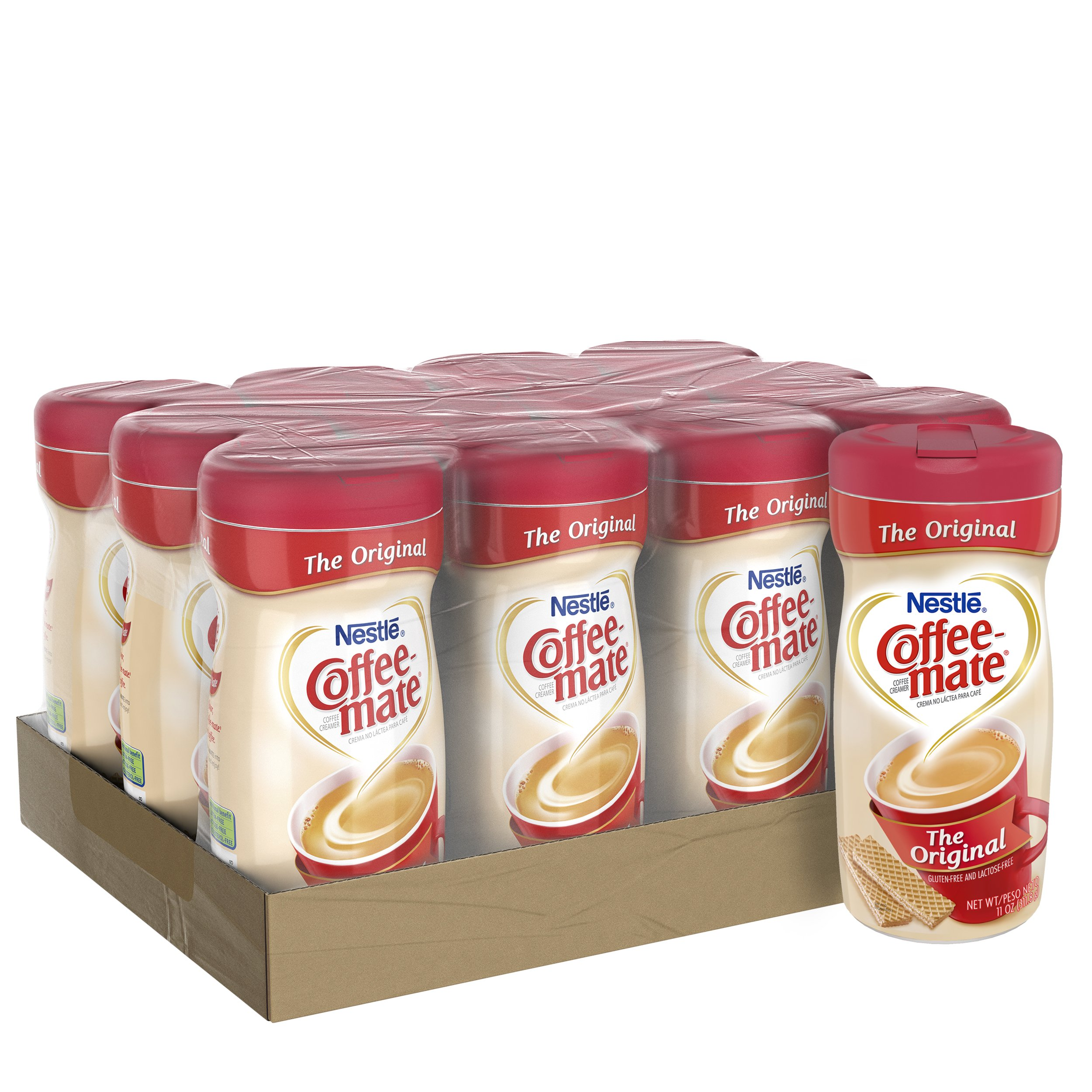 NESTLE COFFEE-MATE Coffee Creamer, Original, 11oz powder creamer, Pack of 12